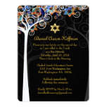 PixDezines tree of life mitzvah 6.5x8.75 Paper Invitation Card