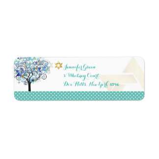 PixDezines Tree of Life/Mitzvah Label