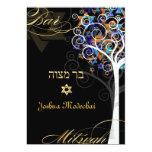 PixDezines tree of life mitzvah/metallic ice 5x7 Paper Invitation Card