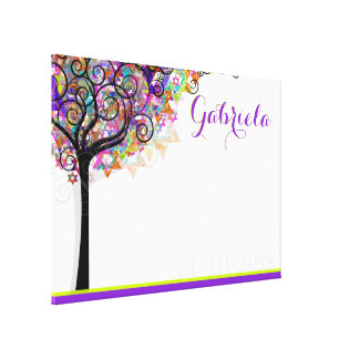PixDezines Tree of Life Sign In Board/Purple/Pink Canvas Print