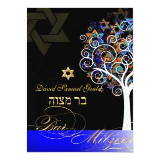 PixDezines tree of life+stars, Bar Mitzvah Card