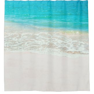 PixDezines Tropical Beach Shower Curtain