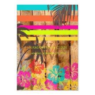 PixDezines tropical grunge/beach theme/DIY colors Card