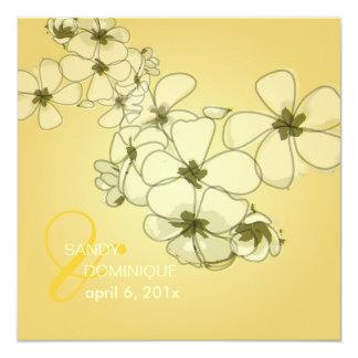 PixDezines Tropical/plumerias/destination wedding 5.25x5.25 Square Paper Invitation Card