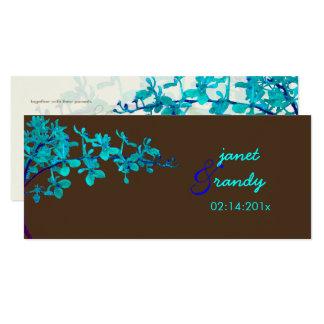 PixDezines TURQUOISE ORCHIDS/RENANTHERA/DIY color Card