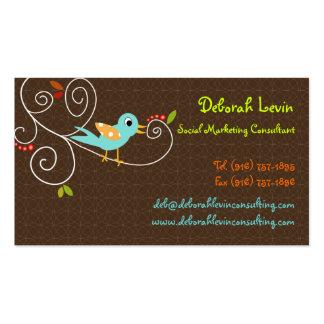 PixDezines Tweet, tweet, SEO marketing/DIY color Business Card Template