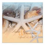 "PixDezines Under the Sea, Starfish/Invitations 5.25"" Square Invitation Card"