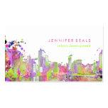 PixDezines urban grunge lakeshore color run♥ Business Card Templates