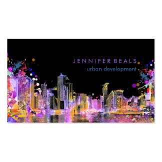 PixDezines urban grunge lakeshore color run♥ Double-Sided Standard Business Cards (Pack Of 100)