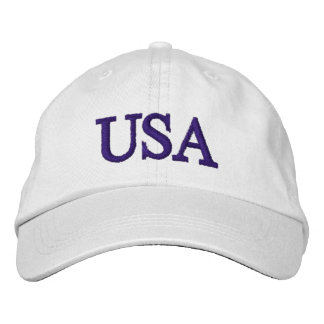 PixDezines USA DIY font+color/embroidered Embroidered Baseball Hat