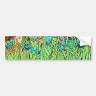 PixDezines van gogh iris/st. remy Bumper Sticker