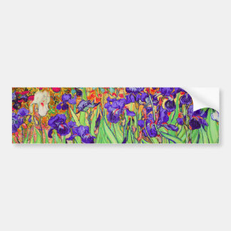 PixDezines van gogh iris/st. remy Bumper Stickers
