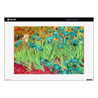 "PixDezines van gogh iris/st. remy Decal For 15"" Laptop"