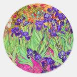PixDezines Van Gogh iris/st. remy Pegatina Redonda