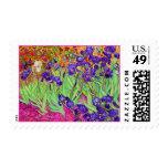 PixDezines van gogh iris/st. remy Postage Stamps