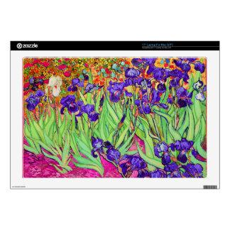 PixDezines van gogh iris/st. remy Laptop Decals