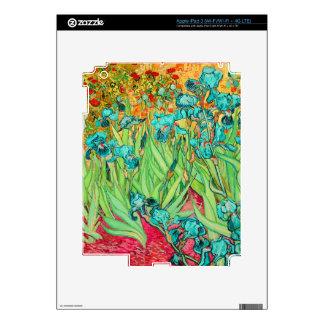 PixDezines van gogh iris/st. remy Skin For iPad 3