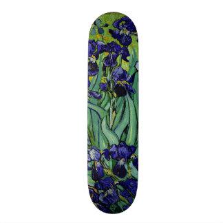 PixDezines van gogh purple irises Skateboards