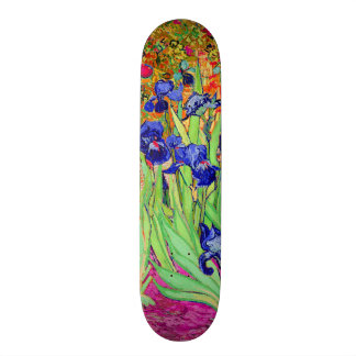 PixDezines van gogh purple irises Skate Boards
