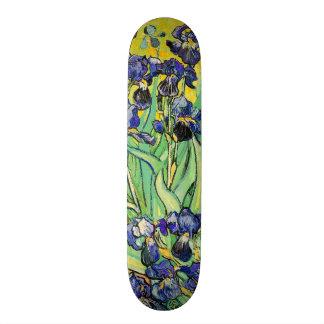 PixDezines van gogh purple irises Skate Board