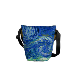 PixDezines van gogh starry night Messenger Bag