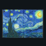 """PixDezines Van Gogh Starry Night/St. Remy iPad Air Cover<br><div class=""""desc"""">Van Gogh&#39;s famous painting,  &quot;The Starry Night.&quot; Painted during his stay at the Saint Remy asylum in the 1880&#39;s,  van Gogh depicted the rolling hills and cypress trees he saw from his window.  Digitally enhanced by PixDezines.  Copyright &#169; 2008-2016 PixDezines.com™ and PixDezines™ on zazzle.com. All rights reserved.</div>"""