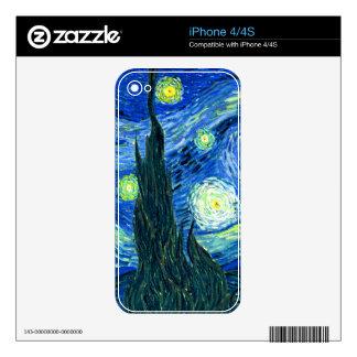 PixDezines Van Gogh Starry Night/St. Remy iPhone 4S Skins