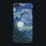 "PixDezines Van Gogh Starry Night/St. Remy iPod Touch 5G Case<br><div class=""desc"">Van Gogh&#39;s famous painting,  &quot;The Starry Night.&quot; Painted during his stay at the Saint Remy asylum in the 1880&#39;s,  van Gogh depicted the rolling hills and cypress trees he saw from his window.  Digitally enhanced by PixDezines.  Copyright &#169; 2008-2016 PixDezines.com™ and PixDezines™ on zazzle.com. All rights reserved.</div>"