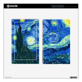 PixDezines Van Gogh Starry Night/St. Remy Kindle Fire Skin