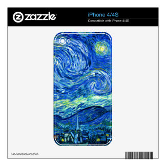 PixDezines Van Gogh Starry Night/St. Remy Skins For The iPhone 4