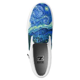 PixDezines Van Gogh Starry NightSt. Remy Slip On Sneakers