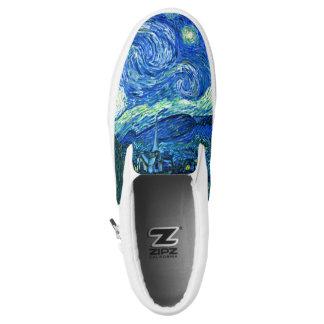 PixDezines Van Gogh Starry Night/St. Remy Slip-On Sneakers