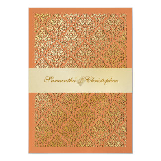 PixDezines vavin damask/champagne/diy background Card