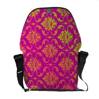 PixDezines vendome damask/diy background color! Messenger Bag