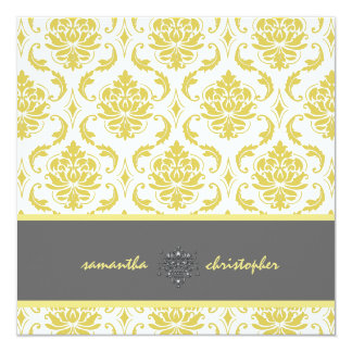 PixDezines Vendome Damask/Yellow and Grey Accent Card