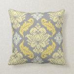 PixDezines venezia damask/diy background Throw Pillows