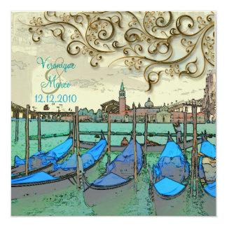PixDezines Venezia wedding invitations/gondolas