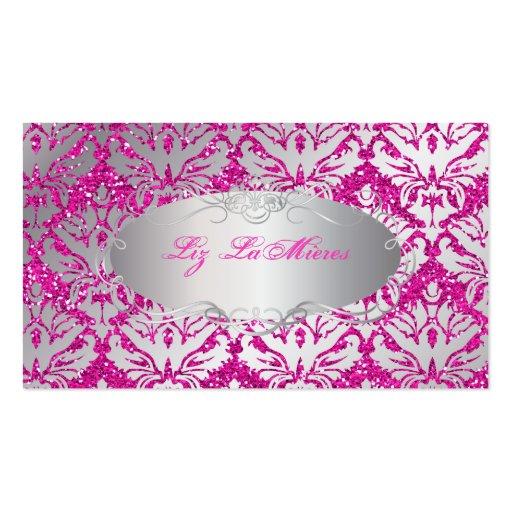 PixDezines sabine damask faux glitter Business Cards