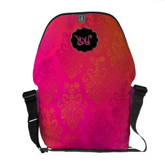 PixDezines Victoria Damask/DIY sherbert background Messenger Bag