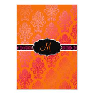 PixDezines Victorian Damask/Berry, Berry/DIY color Invitation