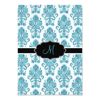 PixDezines Victorian Damask/blue tones/DIY color Card