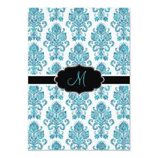 PixDezines Victorian Damask/blue tones/DIY color Card