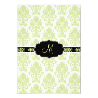 PixDezines Victorian Damask/Chartreuse/DIY color Card