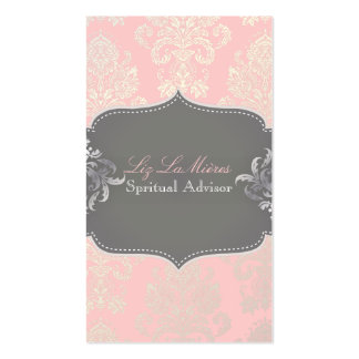 PixDezines Victorian Damask/DIY color Double-Sided Standard Business Cards (Pack Of 100)