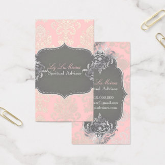 PixDezines Victorian Damask/DIY color Business Card