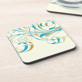 PixDezines Vine Swirls DIY background color Coaster