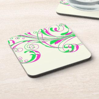 PixDezines Vine Swirls|DIY background color Coaster