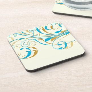 PixDezines Vine Swirls|DIY background color Beverage Coasters