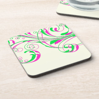 PixDezines Vine Swirls|DIY background color Drink Coaster