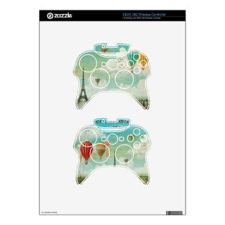 PixDezines vintage balloons/eiffel/paris Xbox 360 Controller Skins